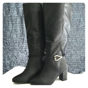 6be69153710c New in Box Dex Flex Black Wide Calf Boots